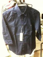 レイジブルードット柄7分袖シャツ