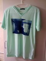 WEGO VネックフォトプリントTシャツ