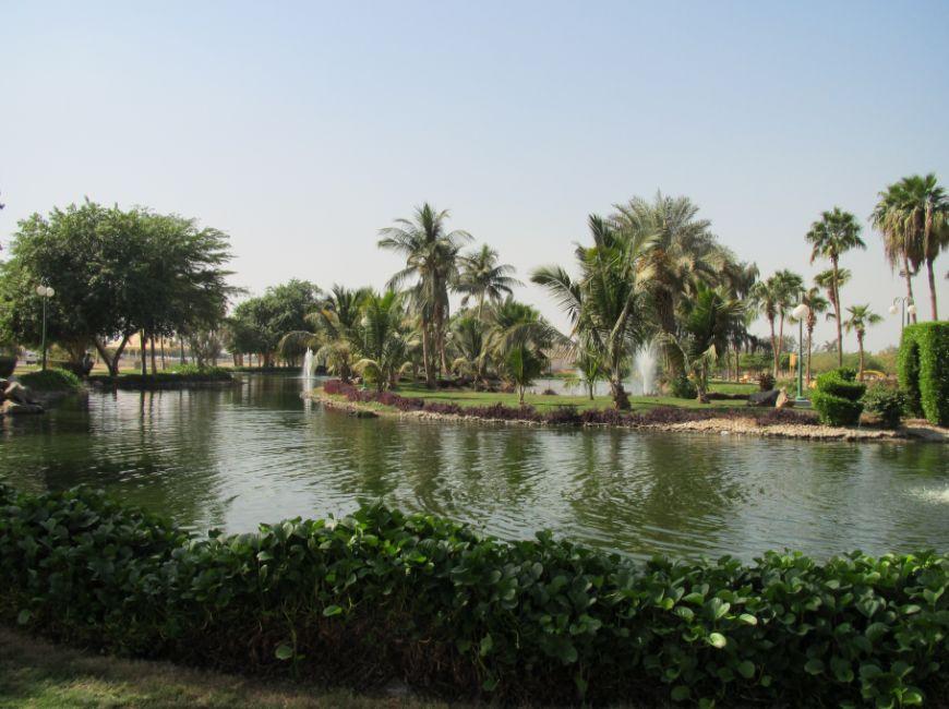 工業地区の公園