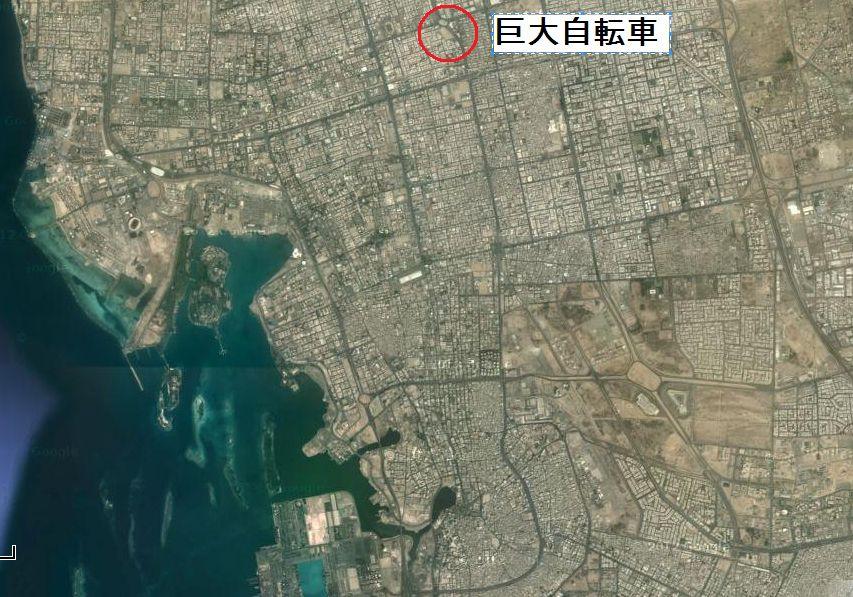モニュメント巨大自転車地図2