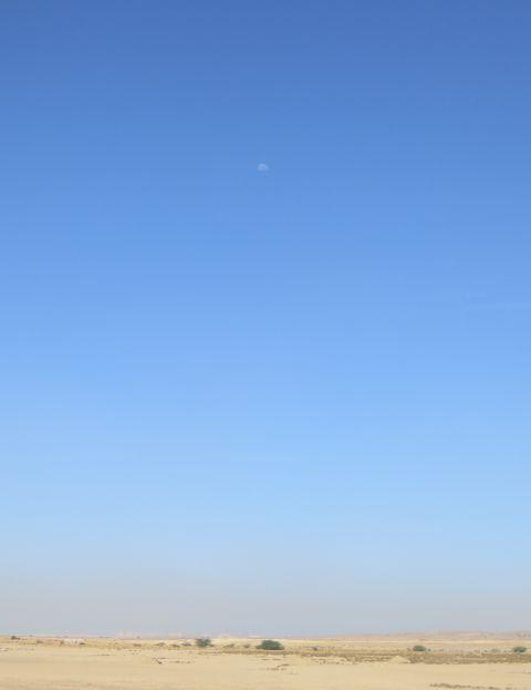 砂漠の白い半月