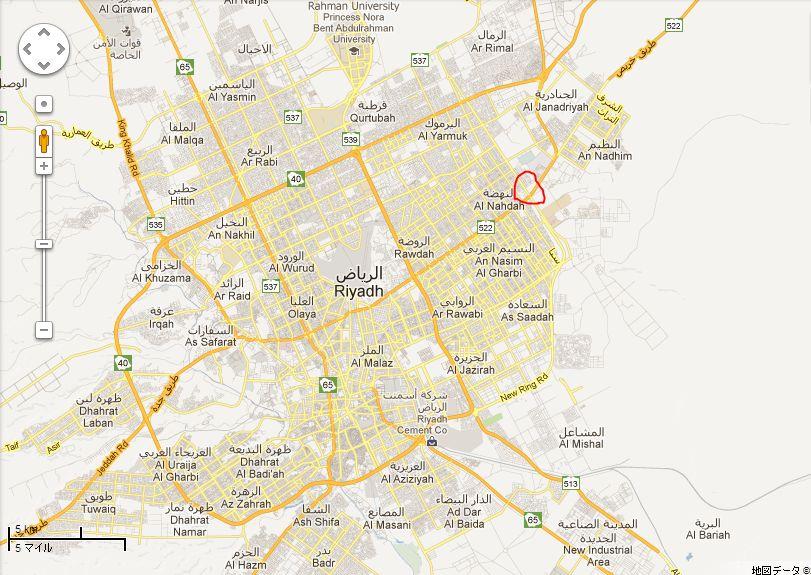 爆発現場地図
