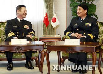 071129日海上自衛隊參謀長會見中國海軍軍艦出訪指揮員
