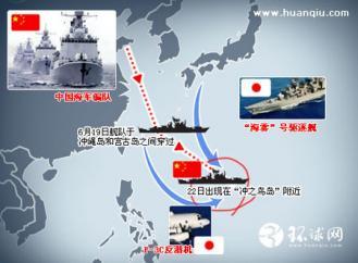 """2009 日本媒体声称中国海#20891;在""""冲之#40479;""""海域#36827;行演#32451;"""