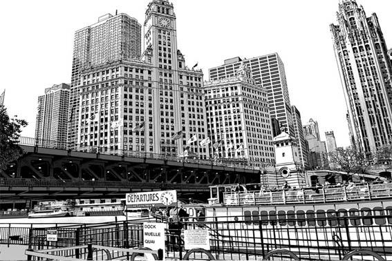 漫画背景 シカゴ1