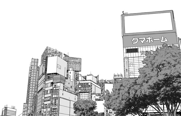 漫画背景・新宿004