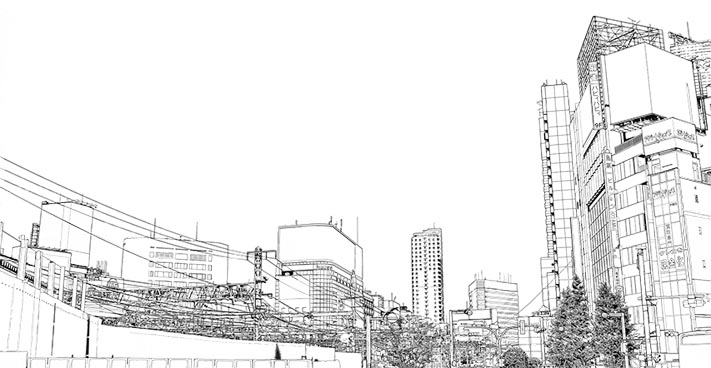 漫画背景・新宿005