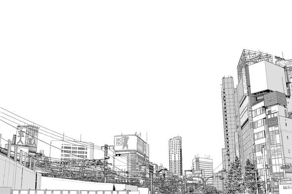 漫画背景・新宿006