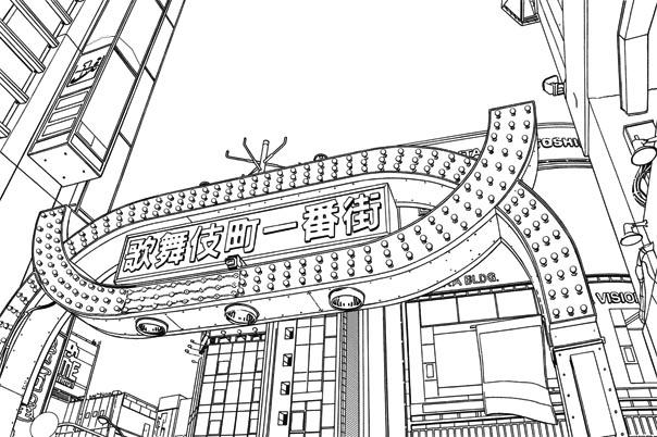 漫画背景・新宿007
