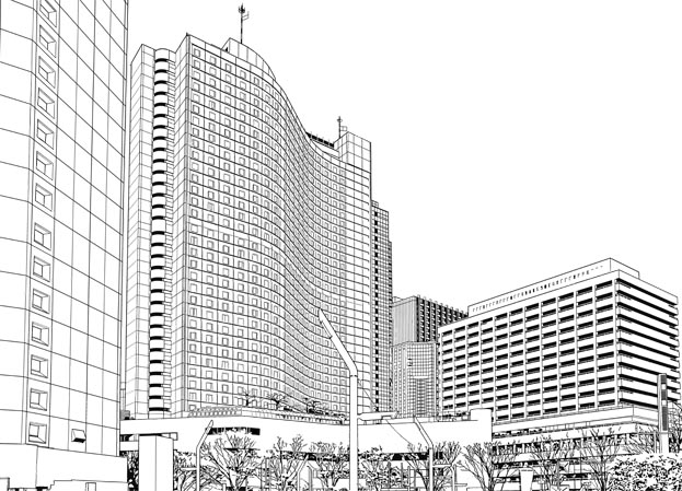 漫画背景・新宿008