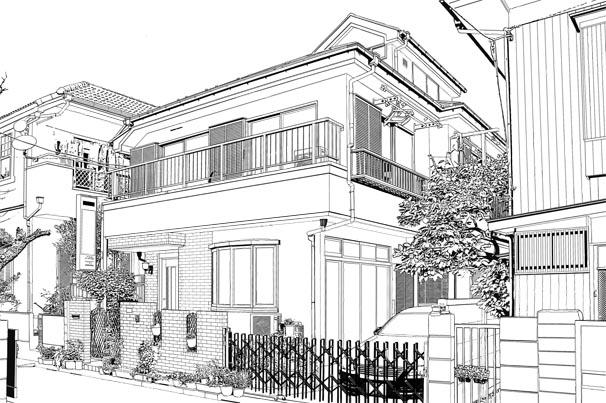 漫画背景・住宅001