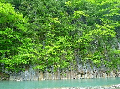 松川渓谷玄武岩①(2010.6.2)