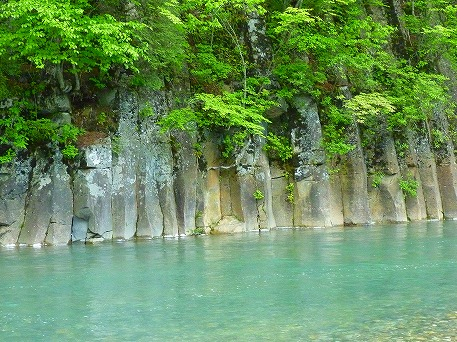 松川渓谷玄武岩②(2010.6.2)