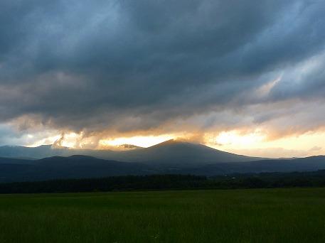 上坊牧野からの夕焼け01(2010.7.23)