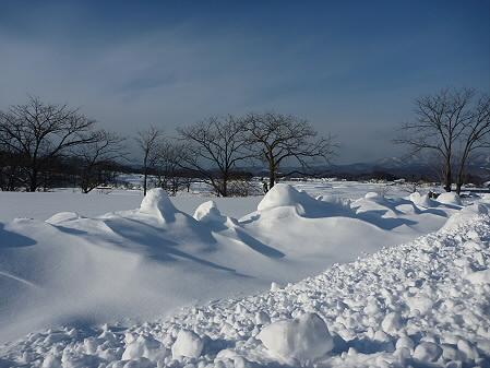 野駄の雪道01(2011.1.14)