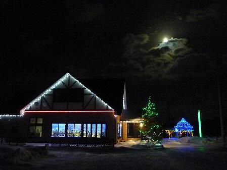 冬の月とサラダファーム03(2011.1.19)