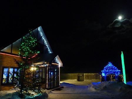 冬の月とサラダファーム04(2011.1.19)