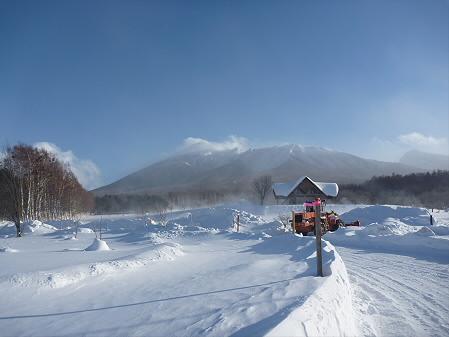 岩手県県民の森みんなの広場前(2011.1.21)