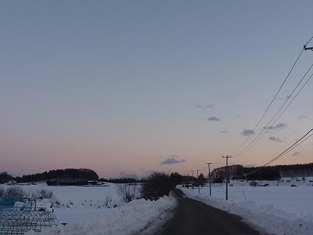 平笠の夕空(2011.1.25)