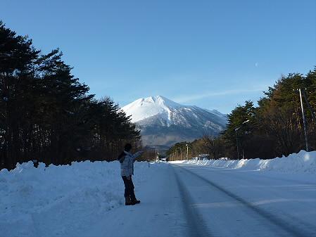 焼走り岩手山と誰かさん(2011.1.26)