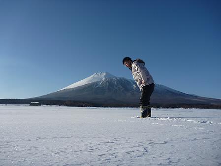 岩手山と誰かさん(2011.2.2)