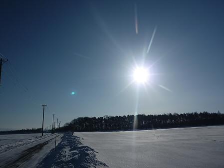 上坊牧野の太陽01(2011.2.2)