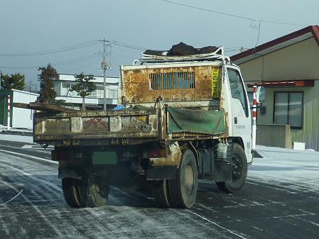 この先左折トラック02(2011.3.3)