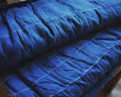 藍染めパッチワーク