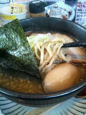柔道二段煮干し麺