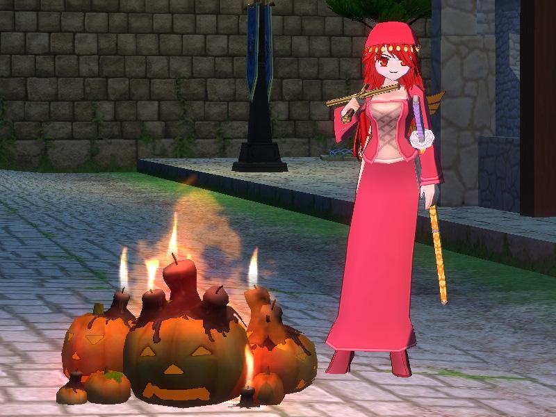 ハロウィン焚き火