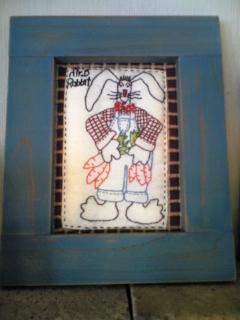 うさぎ刺繍フレーム