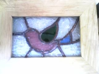 ステンド小鳥フレーム