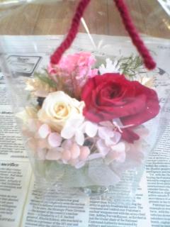 プリザーブドシズク薔薇