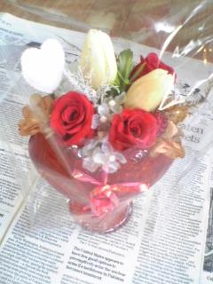 プリザーブドハート薔薇