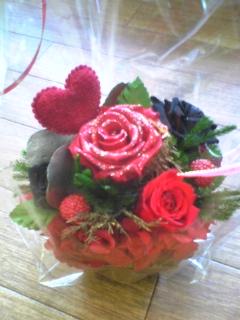 プリザーブド薔薇ハート