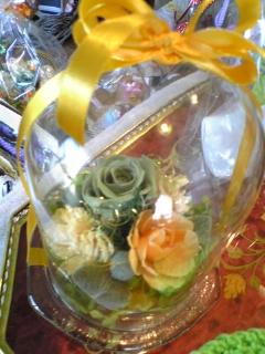プリザーブドガラスドーム