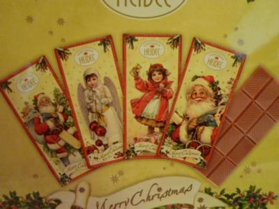 HEIDELクリスマス・ノスタルジックチョコ エンボス缶♪