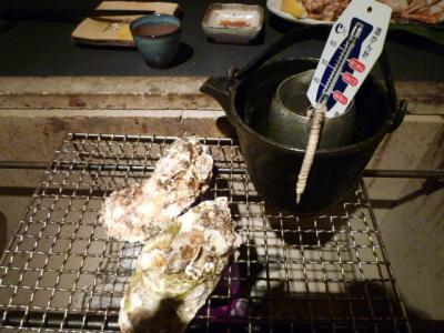 熱燗と焼牡蠣♪