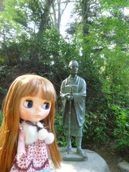 松尾芭蕉の像♪