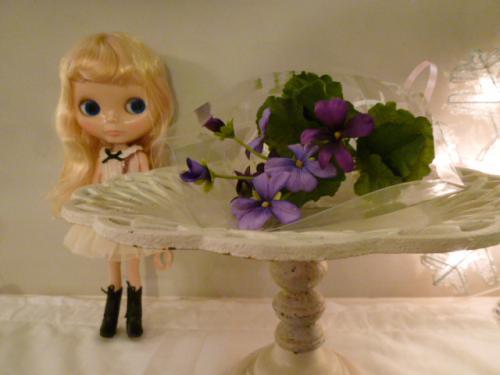 すみれの造花♪