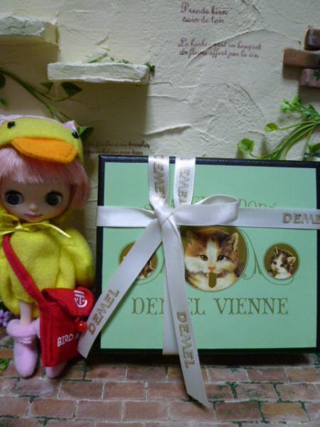 デメル ソリッドチョコ猫ラベル♪