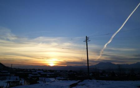 冬の夕日(26.1.7)
