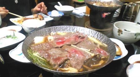 信州牛のすき焼き(26.1.11)