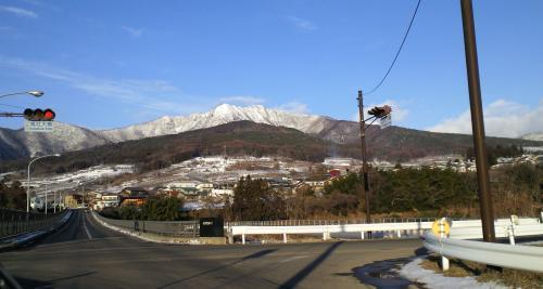 高社大橋から高社山(26.1.13)