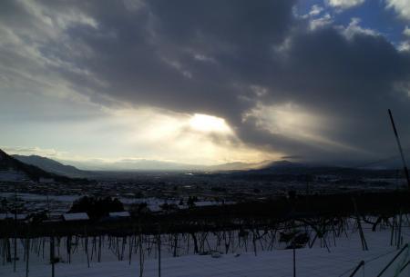 雲間から光のシャワー(26.1.16)