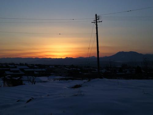 24日の夕日(26.1.24)