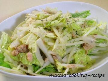 120201白菜とツナのペッパーサラダ