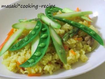 ★120211春野菜の炊き込みカレーピラフ