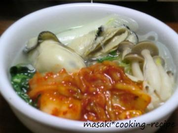 120217プリプリ牡蠣の塩鍋②