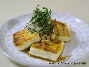120421豆腐ステーキ(ザーサイソース)